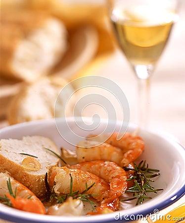 Free Scampi Wine Stock Photo - 17020050