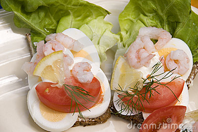 Scandinavian open type sandwiches