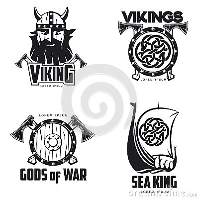 Free Scandinavian Viking Set Of Logos Royalty Free Stock Photo - 73538825