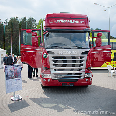Scania R450 Topline EURO 6 Truck Editorial Stock Image
