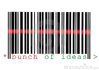 Scanning Bunch of Ideas Barcode Macro Isolated
