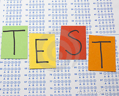 test letters: