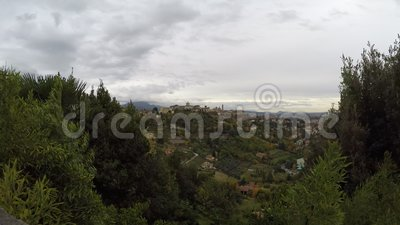 Scape velho da cidade da cidade de Bergamo - destinos italianos do curso - lapso de tempo vídeos de arquivo