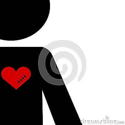 Scar heart