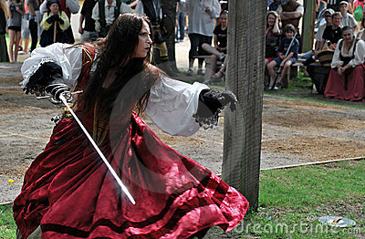 Scarborough Rennaissance Faire: Poised to Strike Editorial Photo