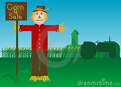 Scare crow and farm