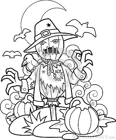 Free Scarecrow In Pumpkin Patch Royalty Free Stock Photos - 64630998