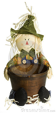 Scarecrow Planter Decoration