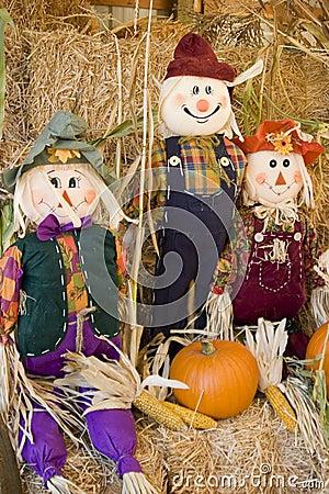 Scarecrow trio
