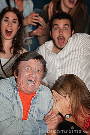 Scared Audience Royalty Free Stock Photography - Image: 23463077