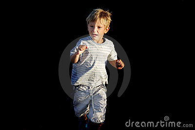 Scared Boy Running Away Royalty Free Stock Images - Image ...