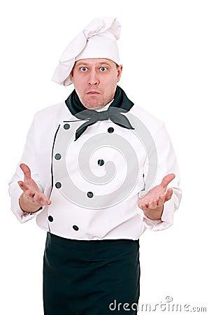 Scared chef