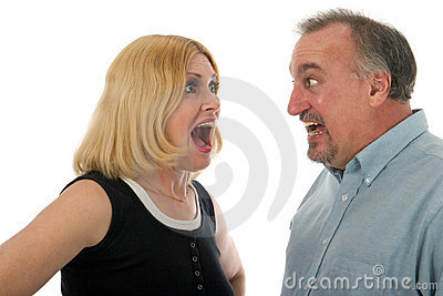 Scared Couple Screaming at Eac
