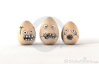 Scared Egg Characters