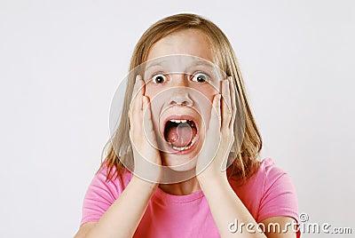 Scared girl
