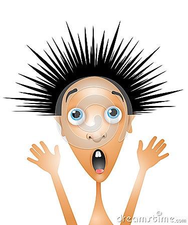 Free Scared Little Boy Cartoon Royalty Free Stock Photo - 7248295