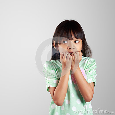 Free Scared Little Girl Hiding Face Stock Photo - 34443870