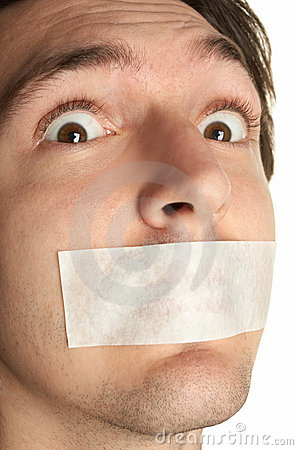 Free Scared Man With Gag Stock Image - 5146831