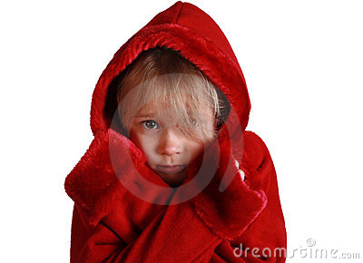 Scared red riding hood