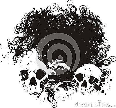 Free Scared Skulls Illustrations. Stock Photo - 3435140