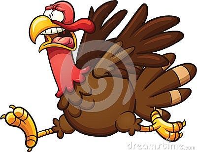 Scared turkey Vector Illustration