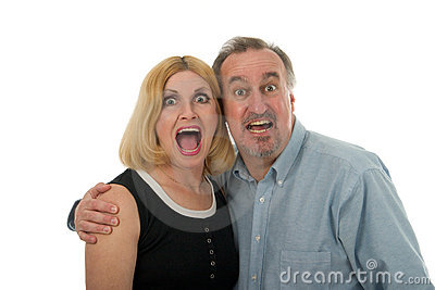 Scared Yelling Screaming Couple