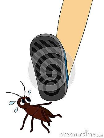 Scaredy roach