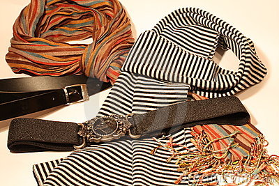 Scarfs and belts