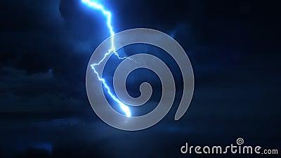 Scarico di fulmine ultra eccellente del movimento lento, colpo della macchina fotografica ad alta velocità