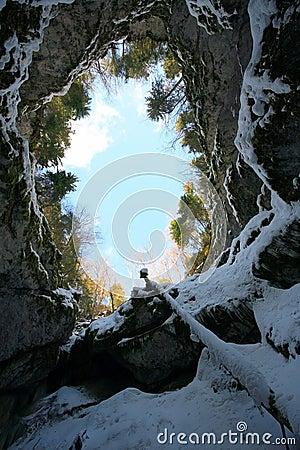 Free Scarisoara Cave Royalty Free Stock Photo - 4232525