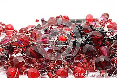 Scarlet precious beads