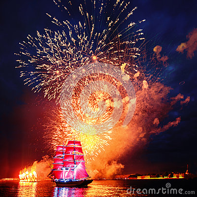 Free Scarlet Sails Stock Images - 38408944