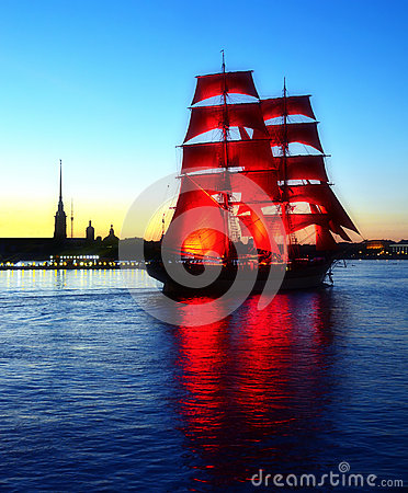 Free Scarlet Sails. White Night Of Petersburg Stock Image - 27833031