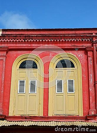 Scarlet walls