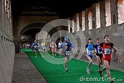 Scarpa d'Oro Half Marathon in Vigevano, 2009 Editorial Photography
