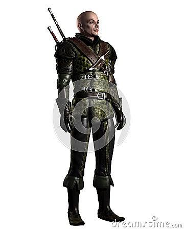 Scarred Fantasy Ranger Character