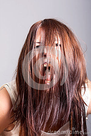 Scarry woman possessed