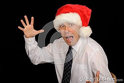 Scary Christmas Businessman