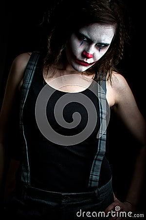 Free Scary Clown Royalty Free Stock Photos - 12269288