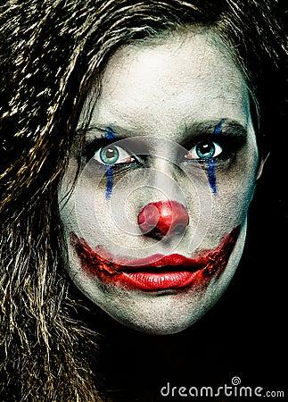 Free Scary Clown Royalty Free Stock Photo - 21792655