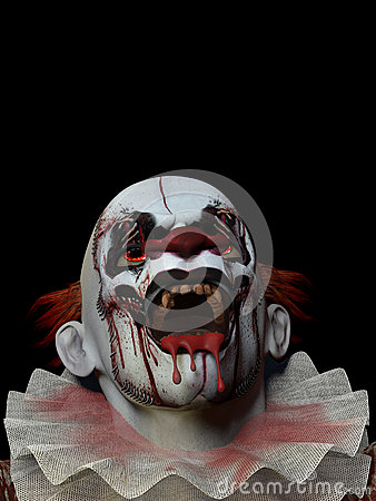 Free Scary Clown 3 Stock Images - 24650734
