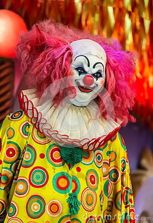 Free Scary Clown Doll Face Royalty Free Stock Image - 46074146