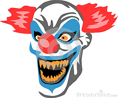 Scary Clown Stock Vector Image 41296272