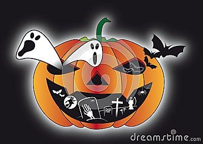 Scary dark night halloween