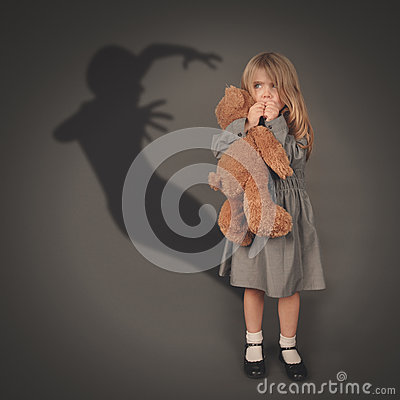 Free Scary Dark Silhouette Ghost Behind Little Child Royalty Free Stock Photo - 50392405