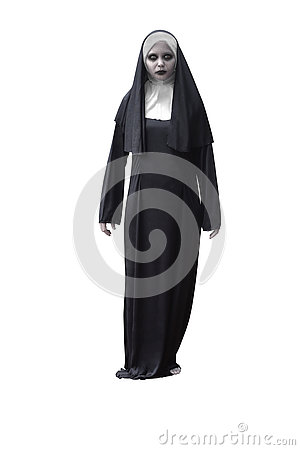 Free Scary Devil Nun Royalty Free Stock Images - 78587639