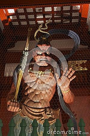 Scary guardian at Senso-ji temple, Tokyo