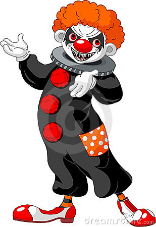 scary halloween clown presenting royalty free stock image