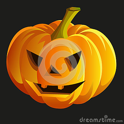 Scary halloween pumpkin. Vector eps10
