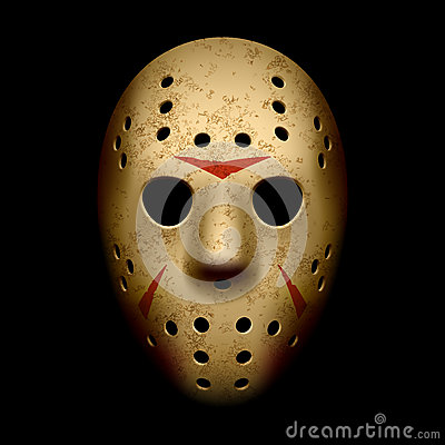 Scary hockey mask